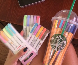 starbucks, colors, and girly image