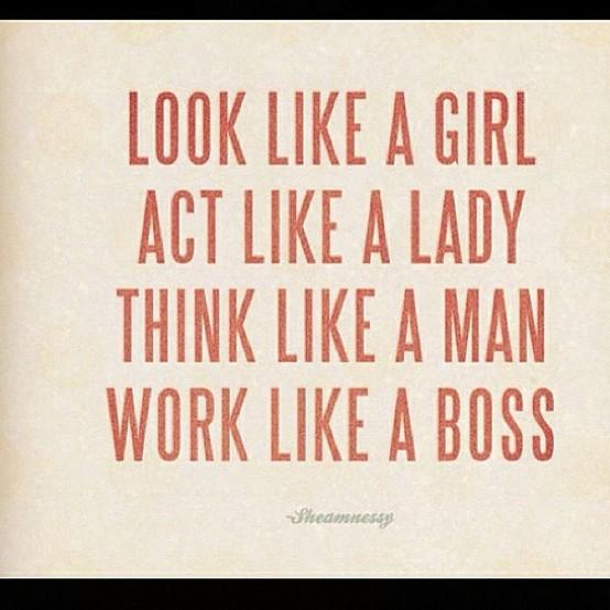 Act like woman think like a man lyrics