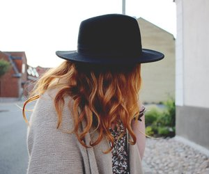 hat and redhead image