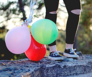 balloon, forest, and vans image