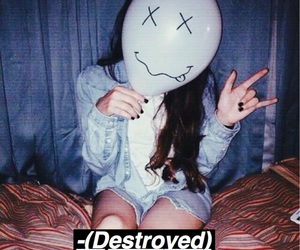 destroyed, girl, and grunge image