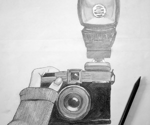 art, black & white, and camera image