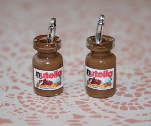 fimo, cuillere, and nutella image