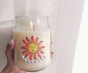 candle, summer, and sun image