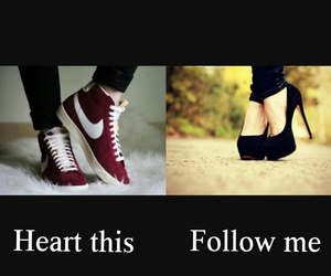 choices, shoes, and heart this image