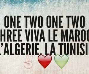 one two three, viva l'algérie, and maroc َ image