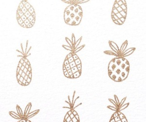 pineapple, background, and gold image