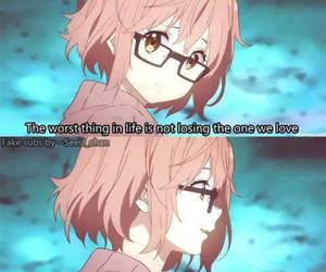 anime, quote, and broken image