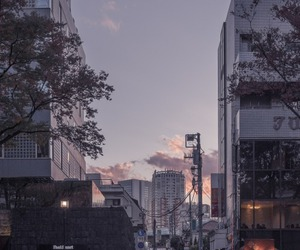 city, japan, and sky image
