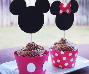 cupcake, mickey, and disney image