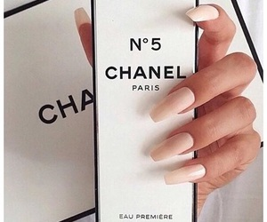 chanel, nails, and perfume image