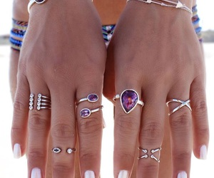 nails, hippie, and purple image