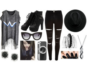 hipster, outfit, and Polyvore image