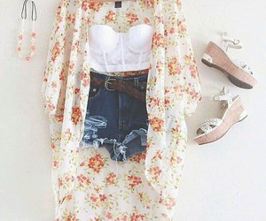 outfit, kimono, and summer image