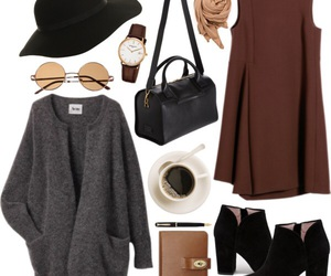 outfit, dress, and fall image
