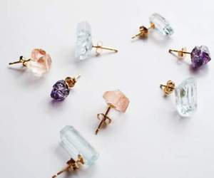 earrings, style, and crystal image