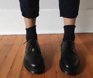 shoes and black dr martens image