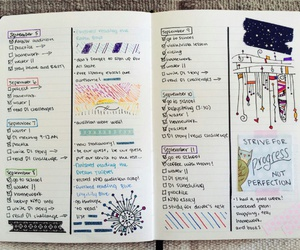 journal, school, and study image