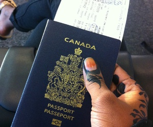airplane, airport, and canada image