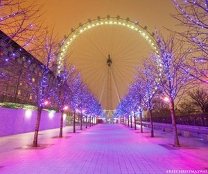 london, christmas, and light image