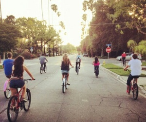 summer, bike, and friends image