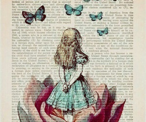 butterflies, alice, and wallpapers image