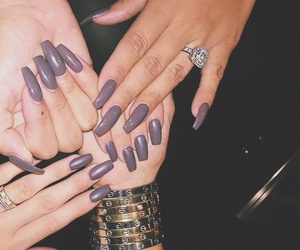nails, kylie jenner, and cartier image