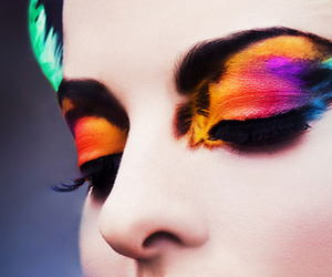 make up, beauty, and colors image