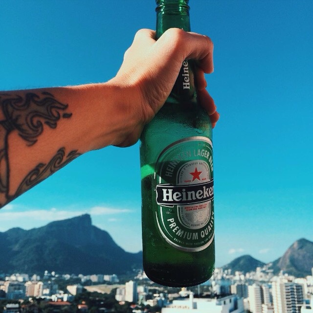 beer, heineken, and tattoo image