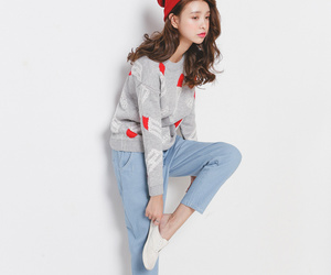 asian fashion, beanie, and clothes image