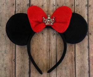 bow, disney, and crown image