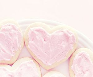 heart, pink, and food image