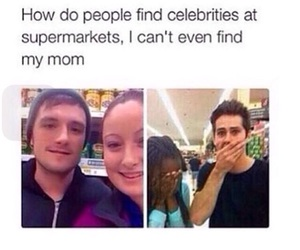 celebrity, mom, and supermarket image