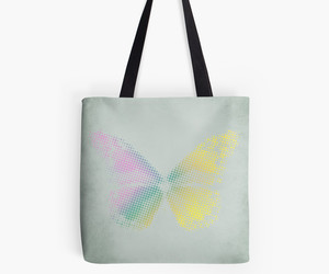 bag, popart, and butterfly image