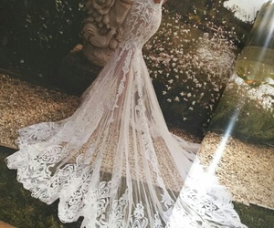 bride, dress, and haute couture image