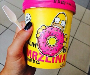 food, simpsons, and donuts image