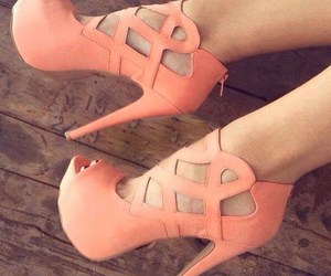 shoes, high-heeled, and high-heeled shoes image