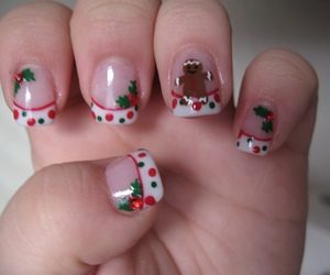 christmas, nail art, and dots image