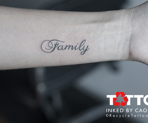 family, Letter, and tattoo image