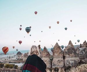 balloons, air, and travel image