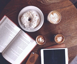 apple, book, and coffee image