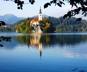M, slovenia, and bled image