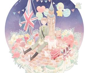 happy, hetalia, and england image