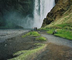 travel, wanderlust, and waterfall image