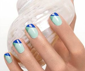 nails, blue, and cool image