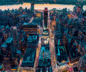 lights, city, and travel image
