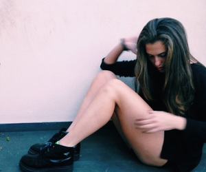 beauty, boots, and black image