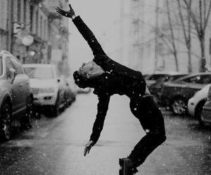 dance, boy, and snow image