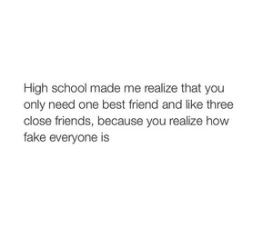 fake, high school, and true image