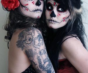 tattoo, skull, and Halloween image